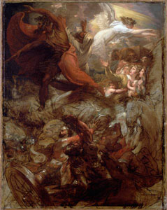 Benjamin West, Pharaoh and His Host Lost in the Red Sea
