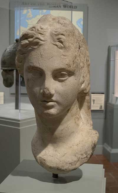 Roman, 'Bust of Venus', first century BCE, white marble